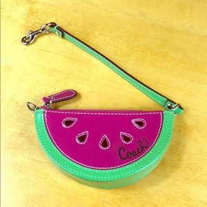 Coach 🍉 Patent Leather Watermelon Coin Purse